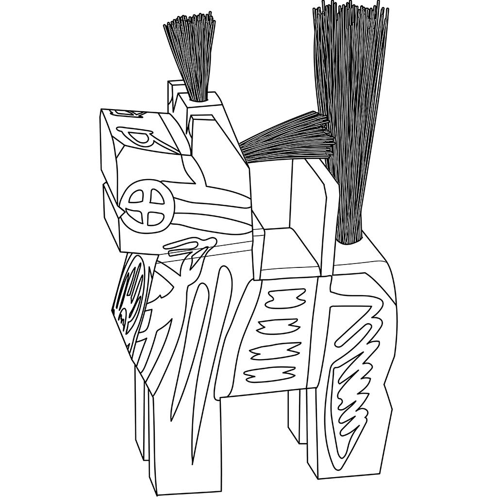 三春駒:黒線バージョン