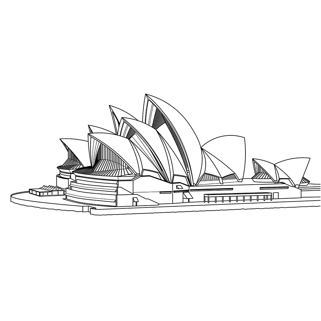 シドニー・オペラハウス:黒線バージョン