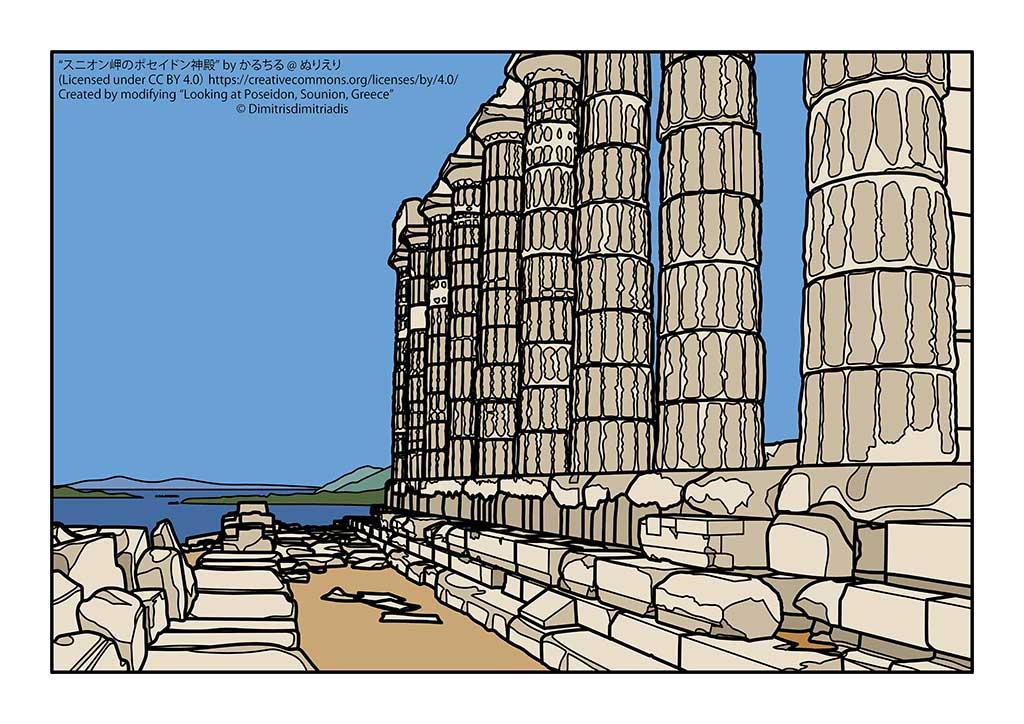 スニオン岬のポセイドン神殿