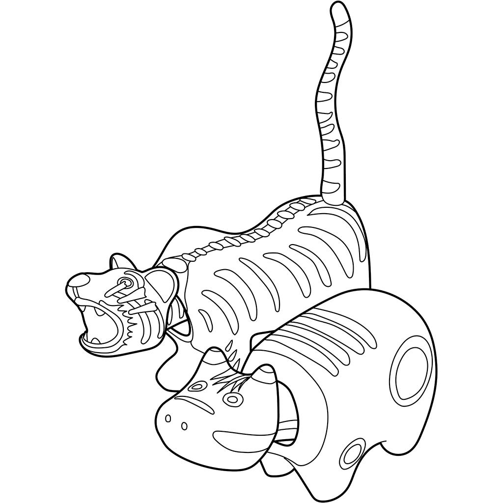 赤べこ・張子の虎:黒線バージョン