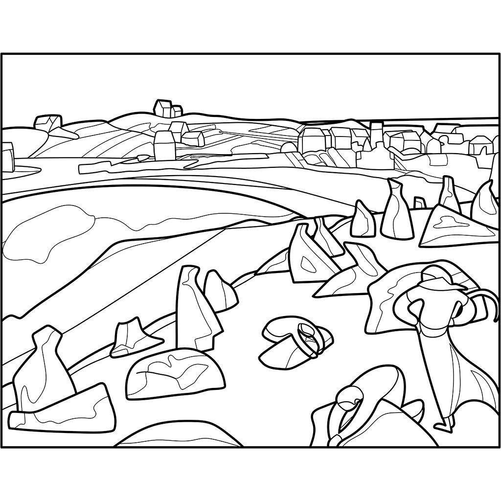 海の傍の収穫:黒線バージョン