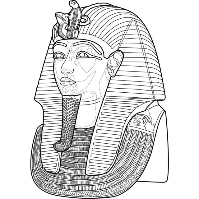 ツタンカーメンのマスク:黒線バージョン