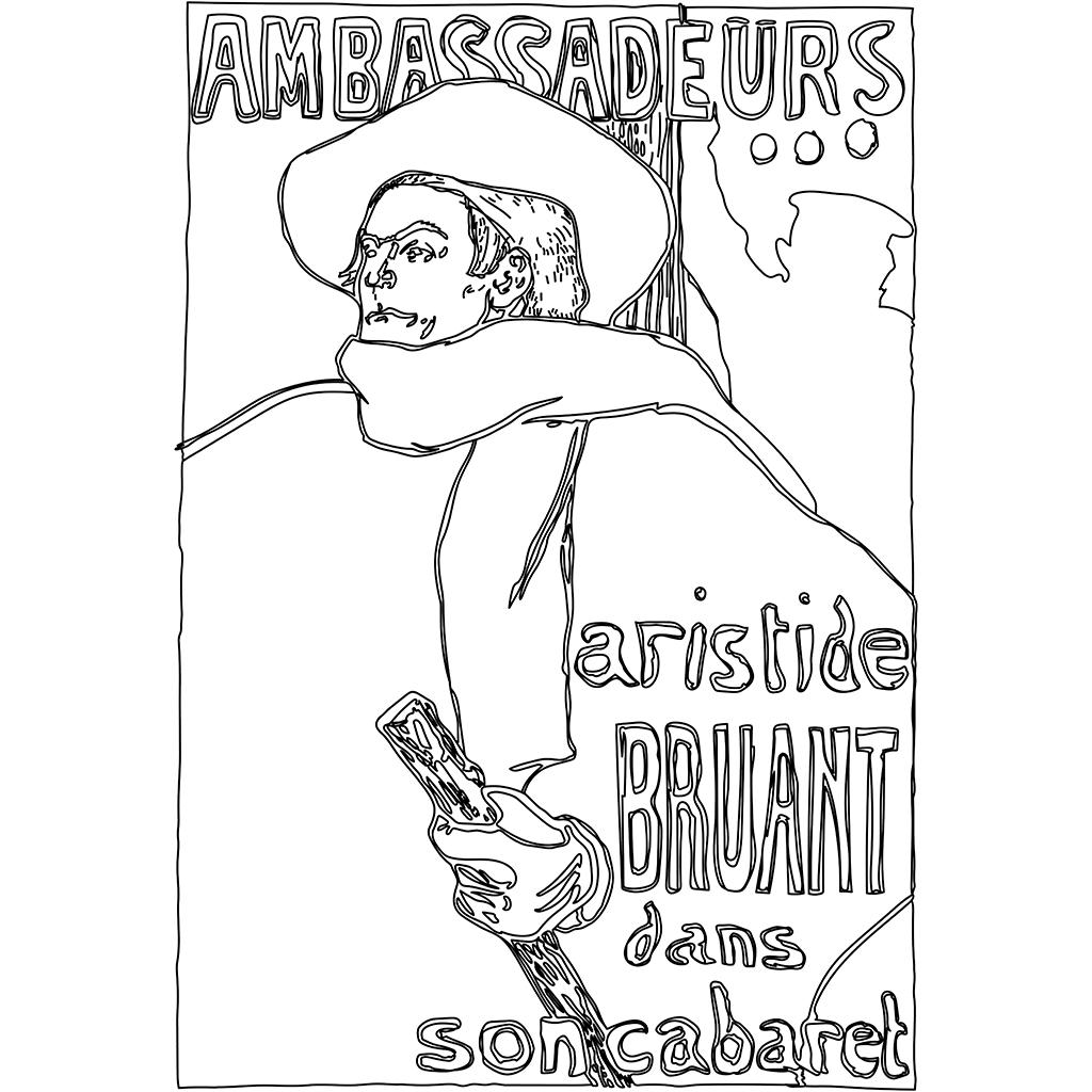 アンバサドールのアリスティード・ブリュアン:黒線バージョン